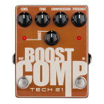 Tech 21 Boost Compressor Tone Shaping Guitar Pedal