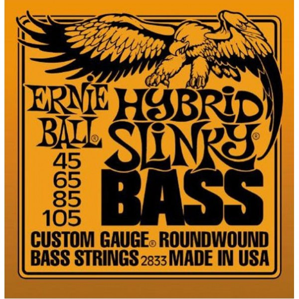 Ernie Ball 2833 Hybrid Slinky Bass Guitar Strings - Round Wound, .045 - .105