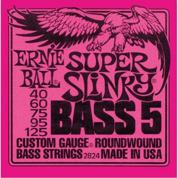 Ernie Ball 2824 Super Slinky 5-String Bass Guitar Strings