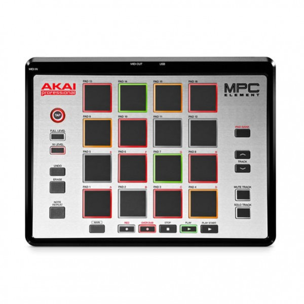 Akai MPC Element Groove Production Hardware Control Surface and Software System