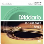 D'Addario EZ920 85/15 Bronze Medium Light Acoustic Guitar Strings 12-54