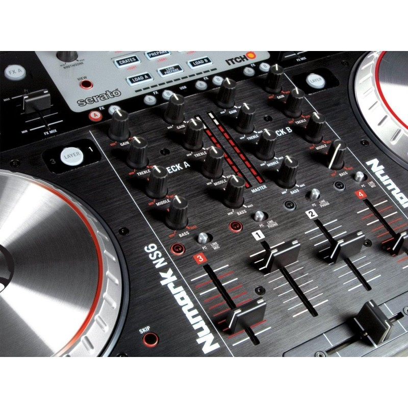numark ns6 4 channel digital dj controller and mixer. Black Bedroom Furniture Sets. Home Design Ideas
