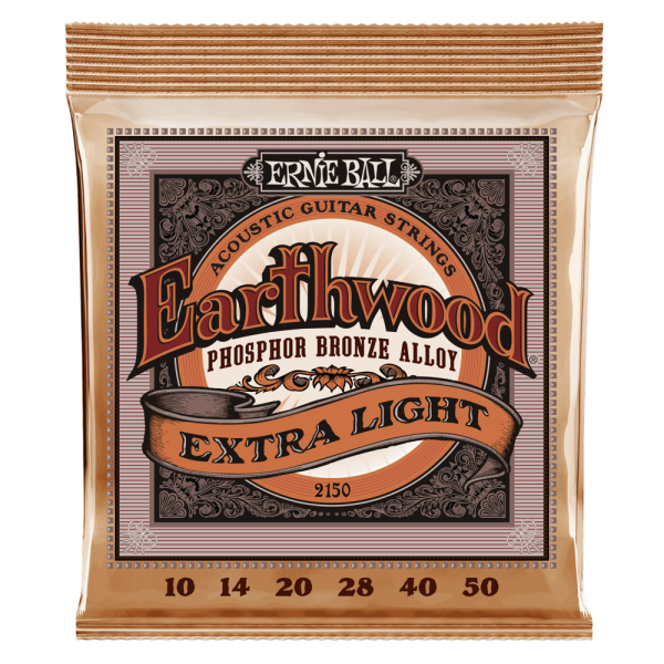 Ernie Ball Earthwood Extra Light Phosphor Bronze Acoustic Guitar Strings