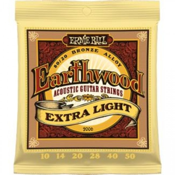 Ernie Ball Earthwood 2006 Bronze Acoustic Guitar String Set