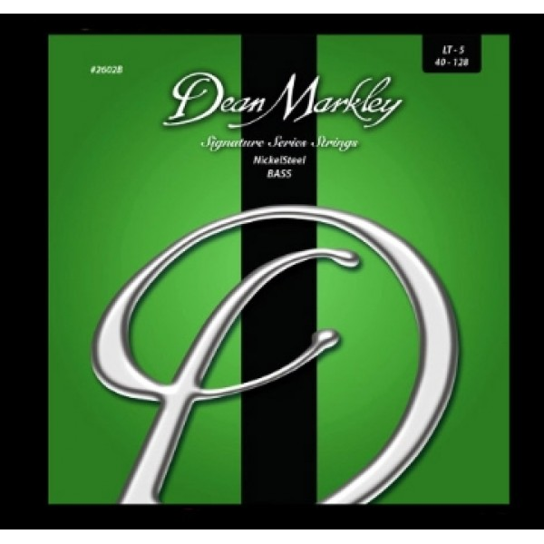 Dean Markley 2602B Nickel Steel 5-String Bass Guitar Strings 40-128