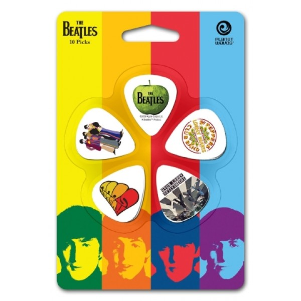 Planet Waves Beatles Albums Picks Light Gauge - Pack of 10