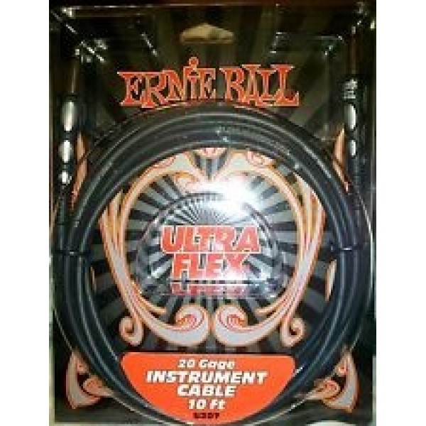 "Ernie Ball 1/4"" Instrument Cable 15 Ft"