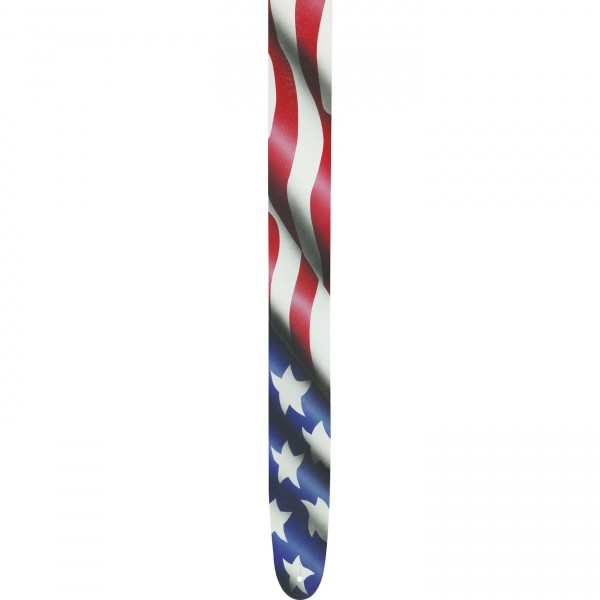 "Perri's 2-1/2"" Leather Airbrushed Guitar Strap -Flag"
