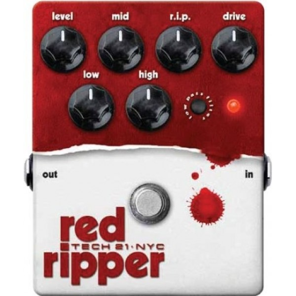 Tech 21 Red Ripper- Bass Fuzz Distortion Pedal