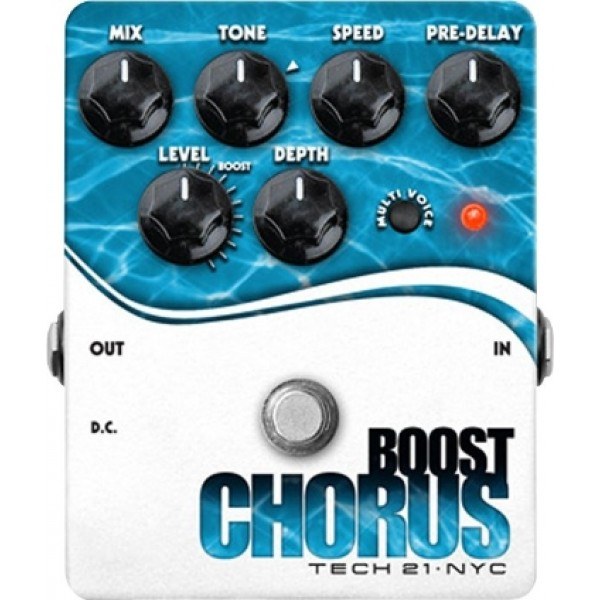 Tech 21 Boost Chorus- Analog Chorus Emulator Pedal