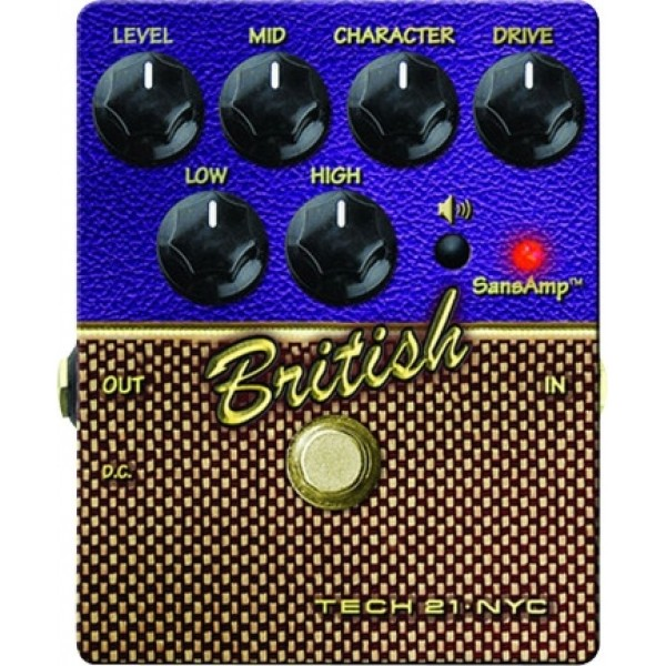 Tech 21 Sansamp Character Seires British Guitar Pedal