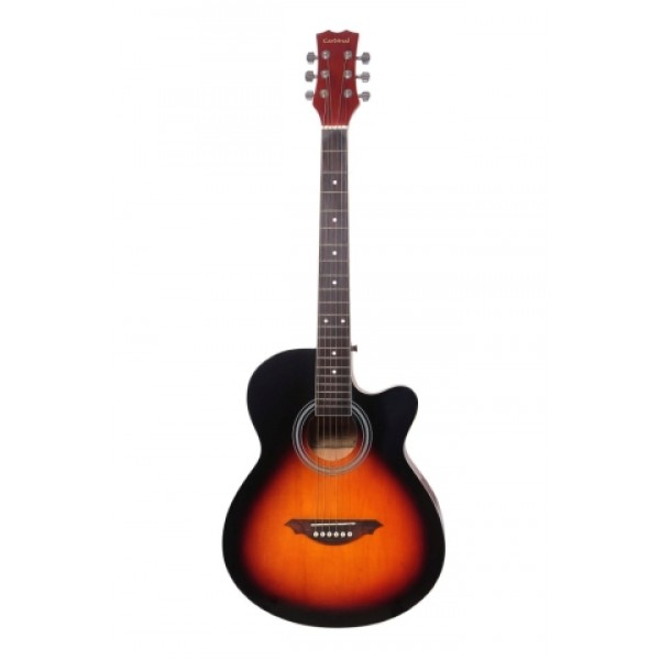 "Cardinal 39"" Acoustic Guitar-Sunburst"