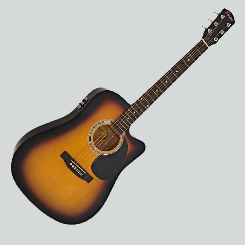 Fender Squier Sa105 Ce Acoustic Guitar With Fishman Pickup