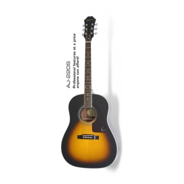 Epiphone AJ-220S Acoustic Guitar with Gigbag