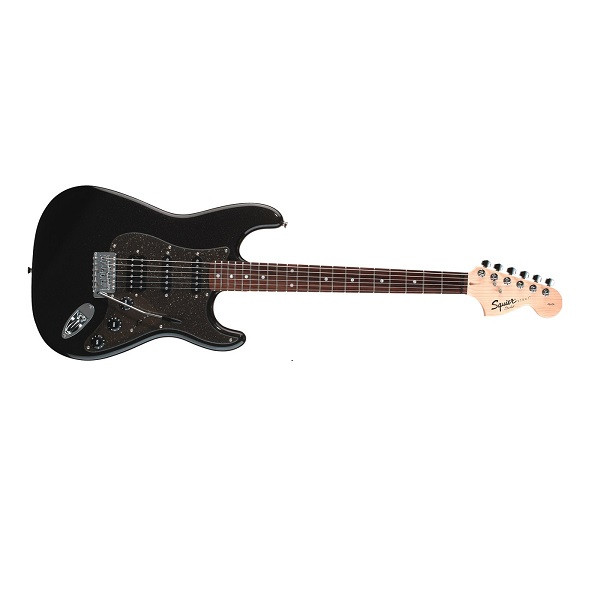 Fender Squier Affinity Fat Stratocaster Electric Guitar - 6 Strings, Right-Handed, Montego Black Metallic, Rosewood Fretboard